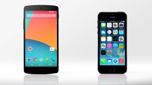 Apple iPhone 5S do suc Google Nexus 5 hinh anh
