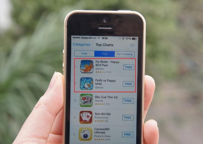Game an theo Flappy Bird leo ngoi dau App Store tai Viet Nam hinh anh