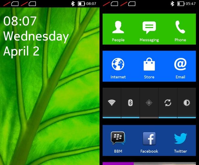Giao diện của các sản phẩm dòng X từ Nokia.