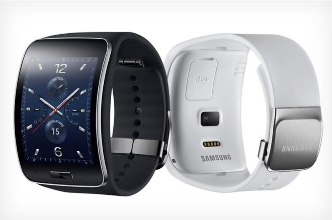 Samsung ra mat smartwatch Gear S man hinh cong, co 3G hinh anh