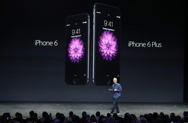 Apple ra iPhone 6, 6 Plus va dong ho thong minh Watch hinh anh