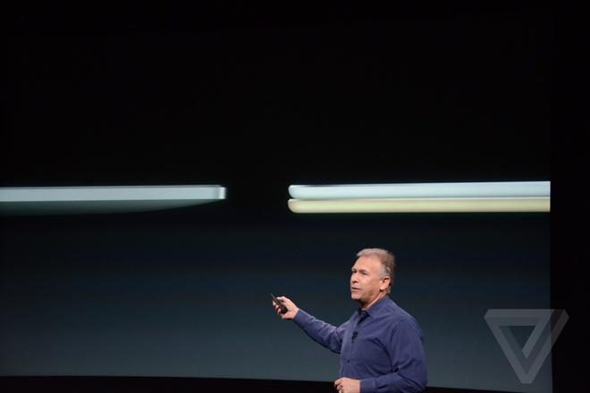 iPad Air 2 - may tinh bang mong nhat the gioi ra mat hinh anh 2 đại diện hãng gọi đây là chiếc tablet mỏng nhất thế giới. Máy mỏng chỉ 6,1mm.
