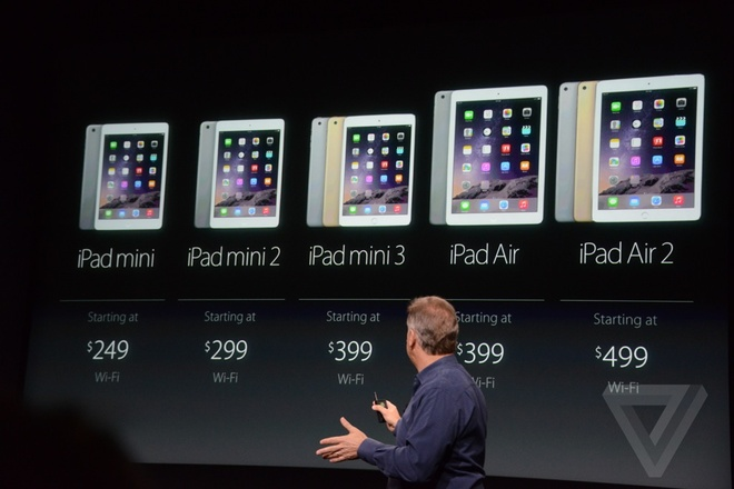 iPad Air 2 - may tinh bang mong nhat the gioi ra mat hinh anh 4 Giá bán của tất cả các thiết bị iPad từ Apple.