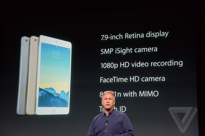 iPad Air 2 - may tinh bang mong nhat the gioi ra mat hinh anh 3 Thông số đáng chú ý của iPad mini 3.