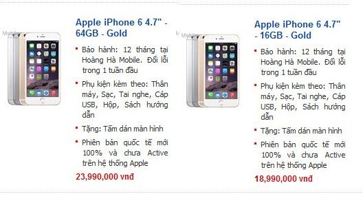 iPhone 6 xach tay chay hang, ruc rich tang gia o Ha Noi hinh anh 2