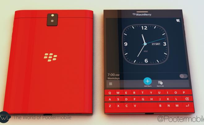 Xuat hien BlackBerry Passport ban mau do hinh anh 1