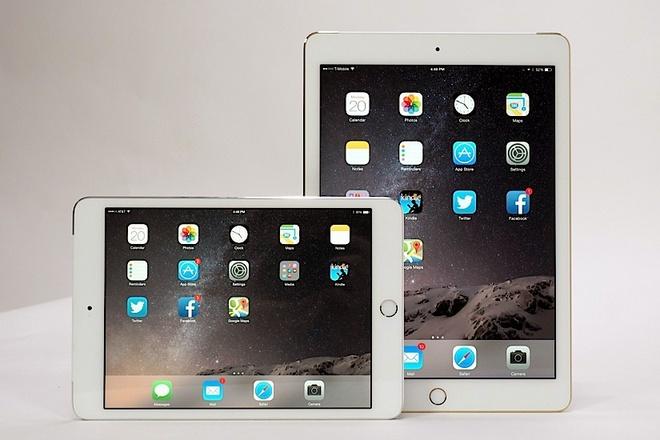 iPad Air 2, iPad mini 3 xach tay da ngang voi gia goc tai My hinh anh