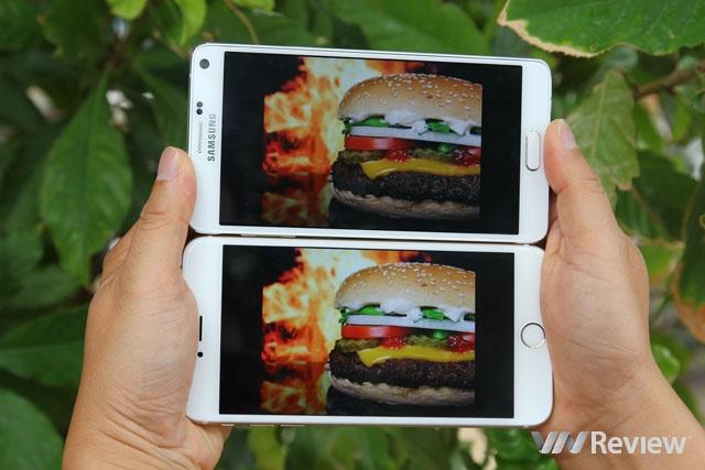 Man hinh QHD co ton pin hon man Full HD? hinh anh 3 Note 4 có màn hình lớn, nét và màu sắc trung thực