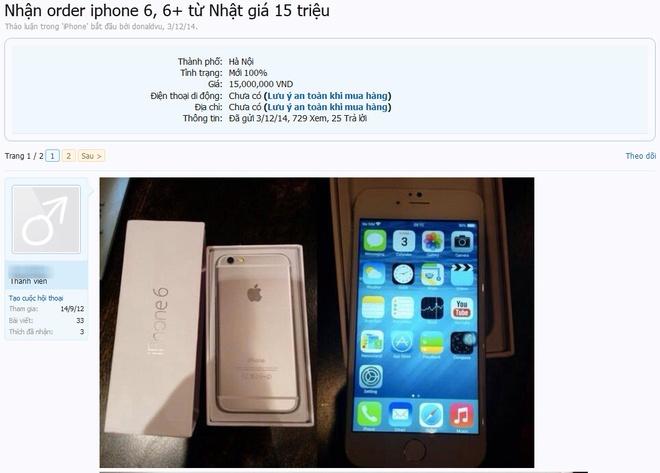 No ro dich vu dat hang iPhone 6 Nhat gia 15 trieu hinh anh 1