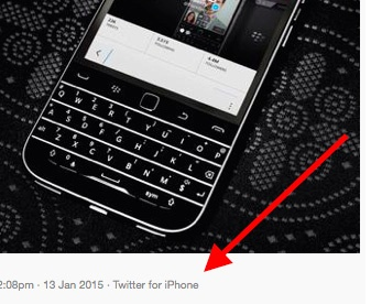 BlackBerry dung iPhone dang anh tren Twitter hinh anh