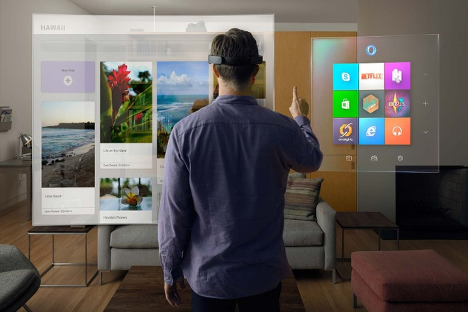 Micorosoft gioi thieu kinh thuc te ao HoloLens hinh anh