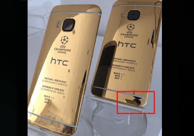HTC dung anh chup tu iPhone gioi thieu One M9 ban doc hinh anh