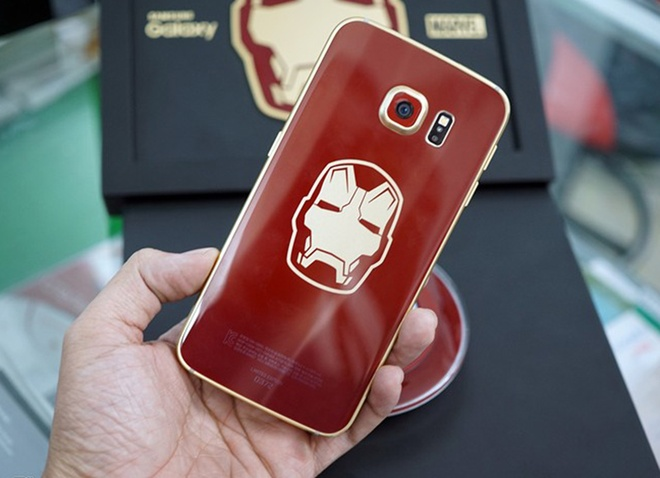 Galaxy S6 Edge Iron Man gia 91.000 USD tai Trung Quoc hinh anh