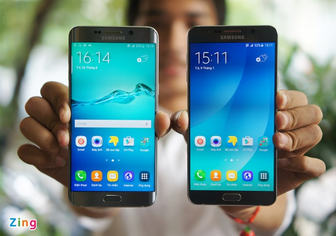 Can canh Galaxy Note 5 va S6 Edge+ mau bac tai Viet Nam hinh anh 2