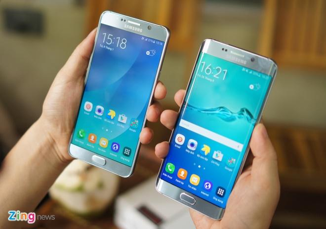 Can canh Galaxy Note 5 va S6 Edge+ mau bac tai Viet Nam hinh anh 11