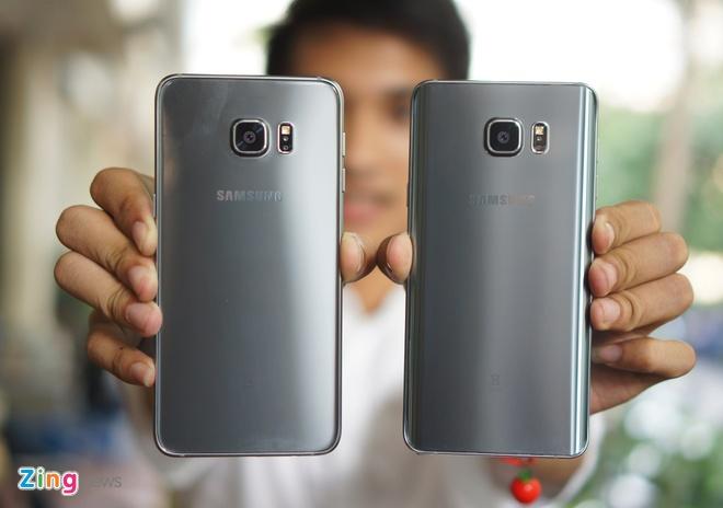Can canh Galaxy Note 5 va S6 Edge+ mau bac tai Viet Nam hinh anh 1