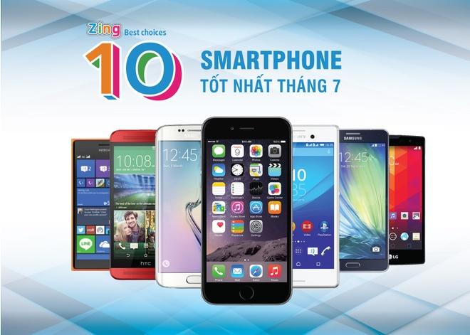 10 smartphone tot nhat thang 7 tai Viet Nam hinh anh