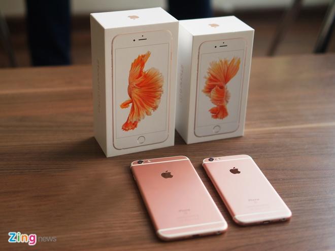 Loan gia iPhone 6S, 6S Plus mau vang hong tai Viet Nam hinh anh 1