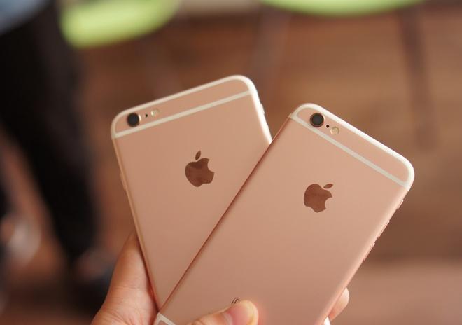 Loan gia iPhone 6S, 6S Plus mau vang hong tai Viet Nam hinh anh