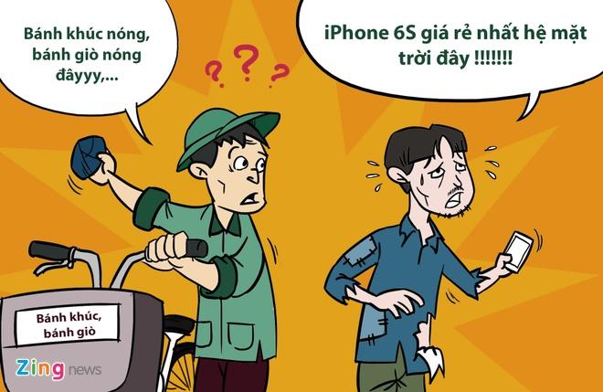 Hi hoa: Khoc, cuoi voi gia iPhone 6S tai Viet Nam hinh anh 7