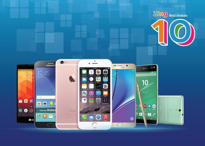 10 smartphone tot nhat thang 9 tai Viet Nam hinh anh