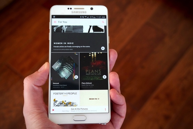 Apple Music co mat tren dien thoai Android hinh anh