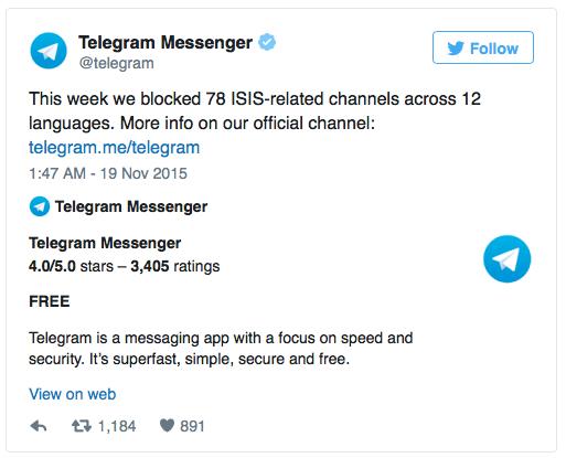 Tai sao IS chon Telegram lam kenh phat ngon chinh thuc? hinh anh 2