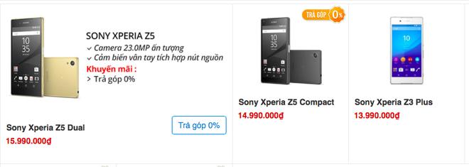 Xperia Z5, Z3+ dong loat giam gia ca trieu dong hinh anh 1