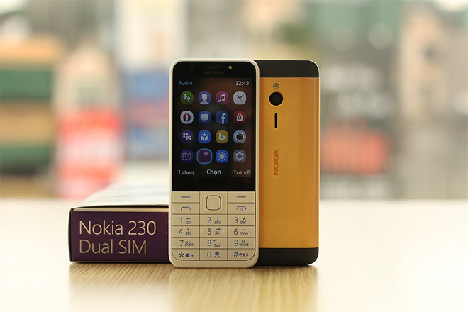 Nokia 230 co ban ma vang, gia 2,8 trieu dong hinh anh 1