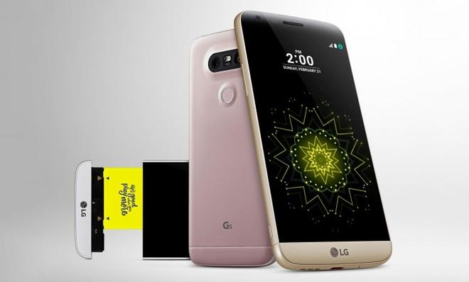 LG G5 ra mat voi vo kim loai, thiet ke dang module hinh anh
