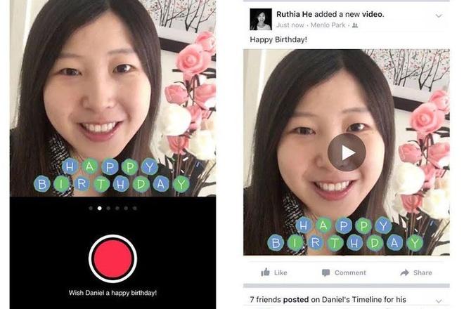 Facebook cho phep gui video chuc mung sinh nhat hinh anh