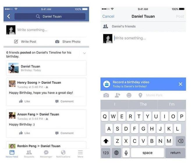 Facebook cho phep gui video chuc mung sinh nhat hinh anh 1