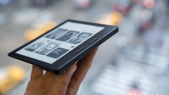 Amazon Kindle Oasis ra mat voi thiet ke mong, gia cao hinh anh 1