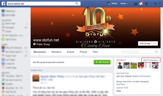 Group Otofun tren Facebook bi gian doan ket noi hinh anh 1
