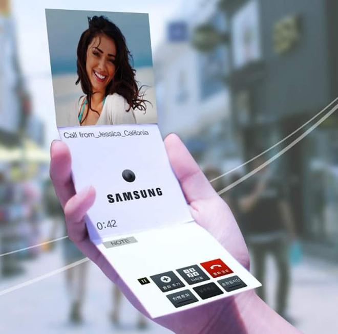 Samsung Galaxy X man hinh uon deo ra mat nam sau hinh anh