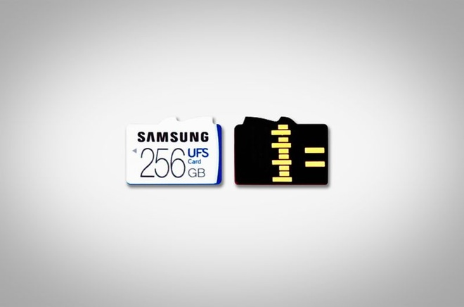 Samsung ra the nho UFS dau tien thay the the microSD hinh anh 1
