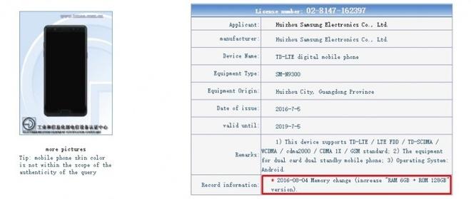 Galaxy Note 7 RAM 6 GB anh 1