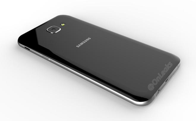Lo anh Galaxy A8 2016 voi kieu dang giong S7 hinh anh