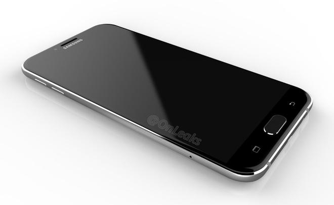 Lo anh Galaxy A8 2016 voi kieu dang giong S7 hinh anh 1