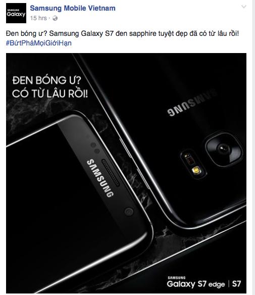 Samsung Viet Nam cham choc iPhone 7 anh 1