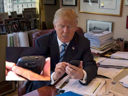 Ong Donald Trump dung dien thoai Galaxy S3 cu ky hinh anh 1