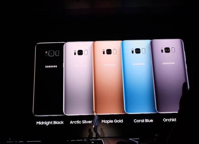 Samsung Galaxy S8 va S8+ ra mat voi man hinh vo cuc, 4G toc do 1 Gbps hinh anh