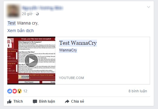 phat tan ma doc WannaCry tai Viet Nam anh 2