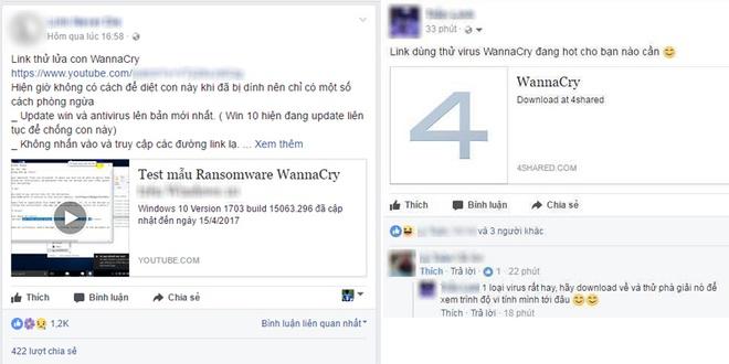 phat tan ma doc WannaCry tai Viet Nam anh 1