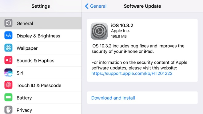 Apple phat hanh iOS 10.3.2 anh 1