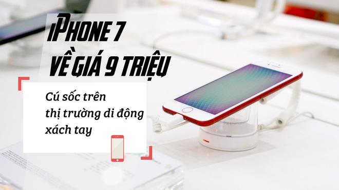 iPhone 7 ve gia 9 trieu: Cu soc tren thi truong di dong xach tay hinh anh