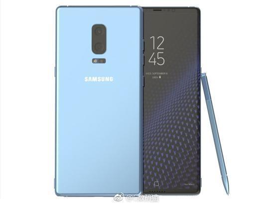 Lo anh Galaxy Note 8 mau xanh san ho hinh anh