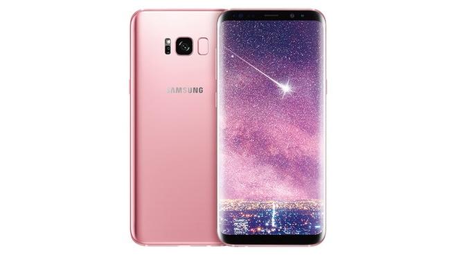 Samsung cong bo Galaxy S8+ mau hong hinh anh