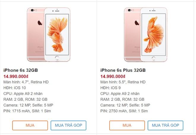 iPhone 6S Plus 32 GB chinh hang bat ngo len ke, gia bang 6S hinh anh 1