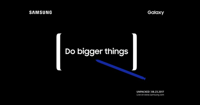Samsung gui thu moi su kien Unpacked ngay 23/8: Note 8 ra mat? hinh anh 1